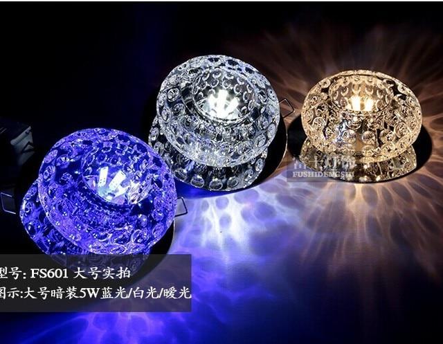 Illuminazione Ingresso Faretti : Led luce di soffitto di cristallo lampada corridoio luci di ingresso