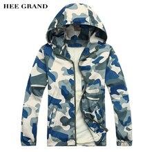 Hee Grand/Новые Модные Для мужчин Толстовки куртка Демисезонный Солнцезащитная одежда Для мужчин Толстовки MWW170
