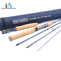 Maximumcatch Top Quality 7FT 2 1M Travel Spain Fly Rod 5WT Fast Action Fly Fishing And
