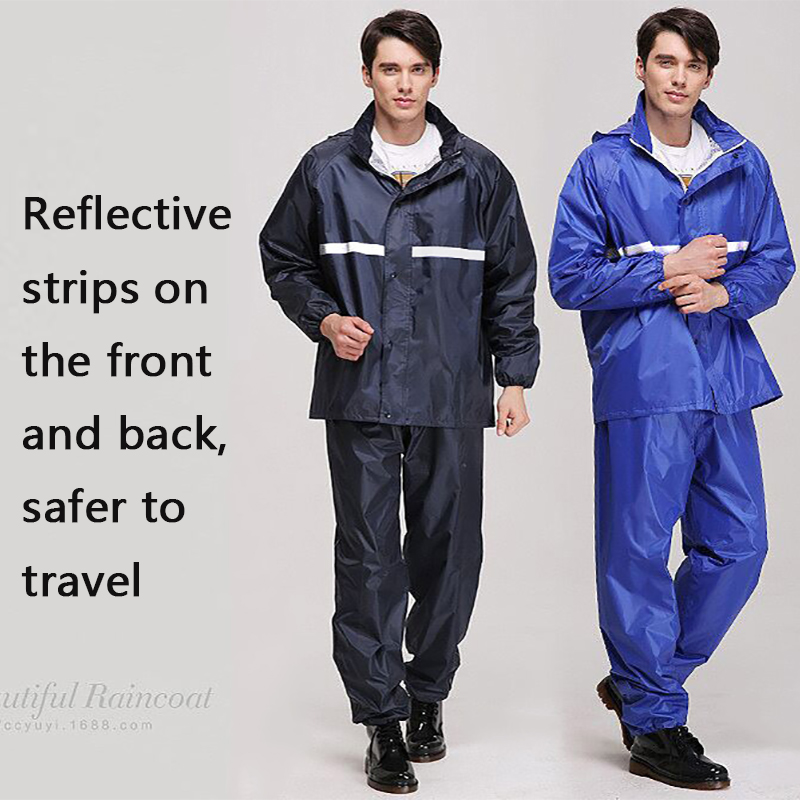 Raincoat Reflective strip Adult Emergency Waterproof Raincoat Camping Rainwear Suit Double layer Split Set Men Women Poncho NEWRaincoat Reflective strip Adult Emergency Waterproof Raincoat Camping Rainwear Suit Double layer Split Set Men Women Poncho NEW