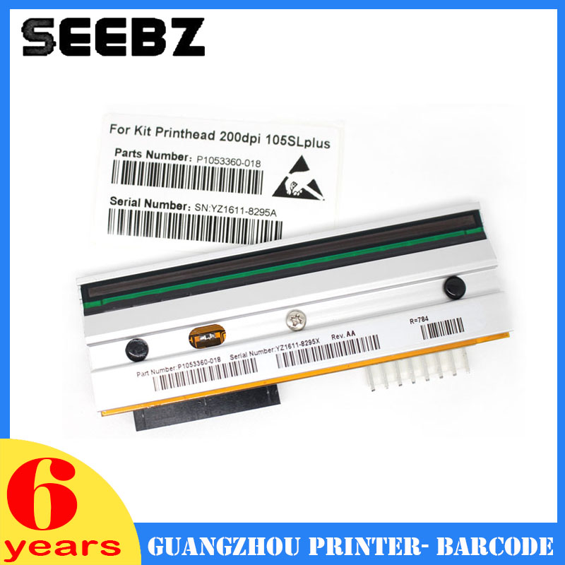 SEEBZ New Compatible Printer Supplies Thermal Barcode Label Print Head Printhead For Zebra 105sl Plus 200dpi free shipping new compatible zebra s600 printhead g44998 1m oem s600 printhead printer head 203dpi barcode printer head
