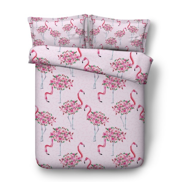 Flamingo Bedding sets bed sheet 3D duvet cover set bed in a bag linen quilt covers California King Queen size full twin 4pcs