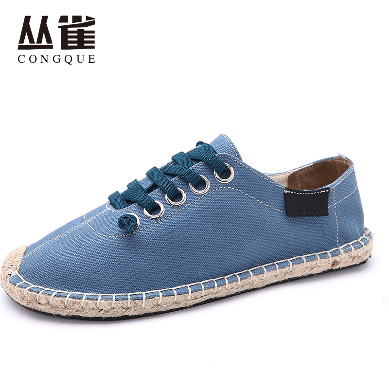 Lover Slip On Flats Fisherman Shoes Casual summer Sandals concise style loafers Zapatillas Mujer Espadrilles Canvas