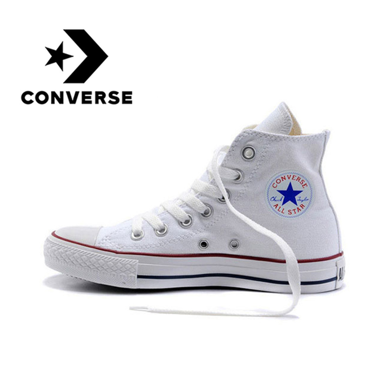 Original Converse Classic Unisex Canvas Skateboarding Shoes High Top Anti-Slippery Light Weight Lace-Up Flat Sneaksers 101009(China)
