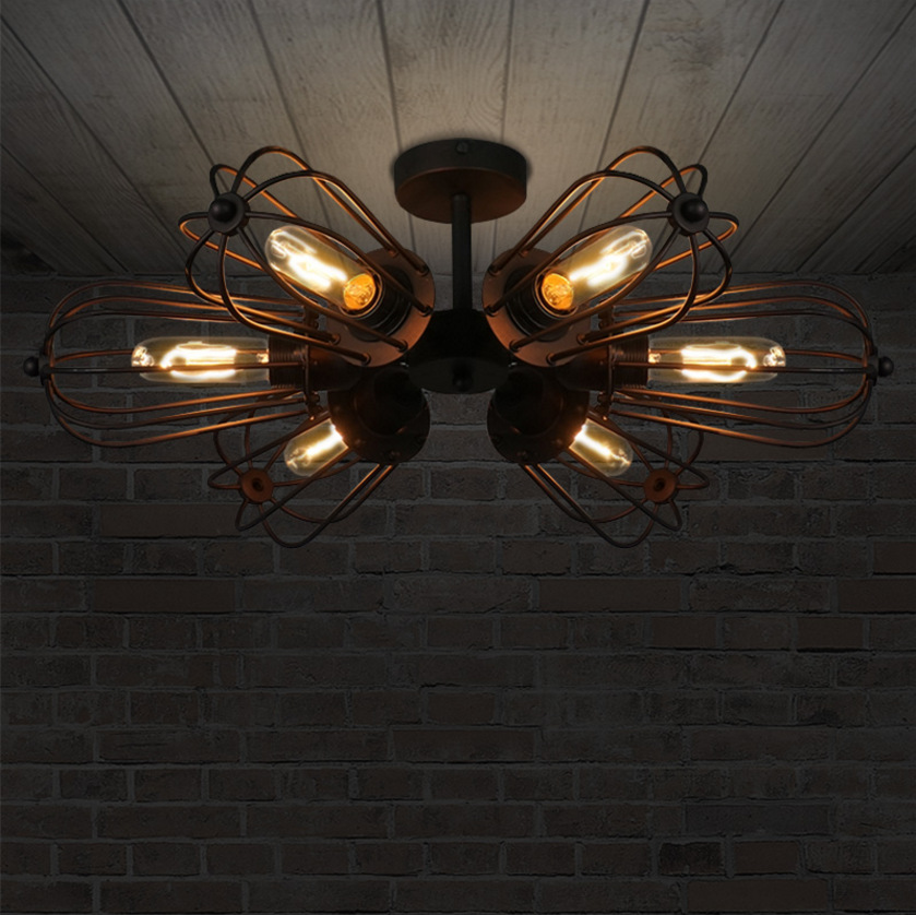 LOFT ретро двойного назначения колеса гладить потолочный светильник американский стиль село 5 глава DIY E27 Книги по искусству паук потолочный с