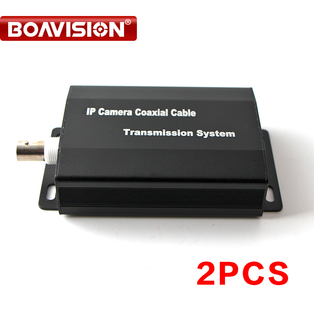 2Pcs/lot 1080P HD IP Network Coaxial Cable Transmission Extender Converter For IP Network Cameras
