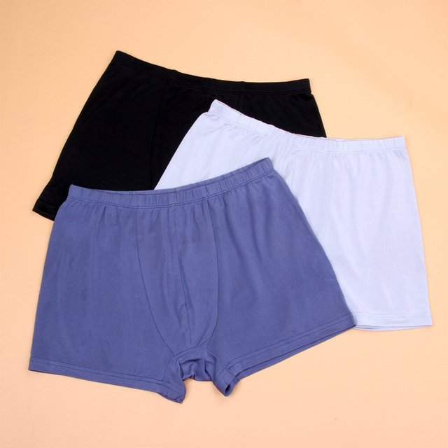 Male silk panties mulberry silk trunk breathable flat feet shorts 4 wire