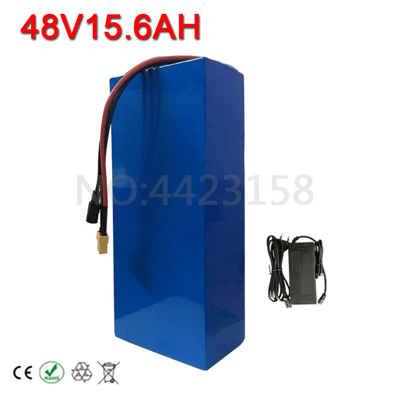 Free Customs No Tax 48V 15AH Battery Pack 48V 15AH 1000W Electric Bicycle Battery 48V Lithium ion Battery 30A BMS and 2A Charger