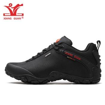 XIANG GUAN Man Hiking Shoes Men Athletic Trekking Boots Black Green Zapatillas Sports Climbing Mountain Outdoor Walking Sneakers