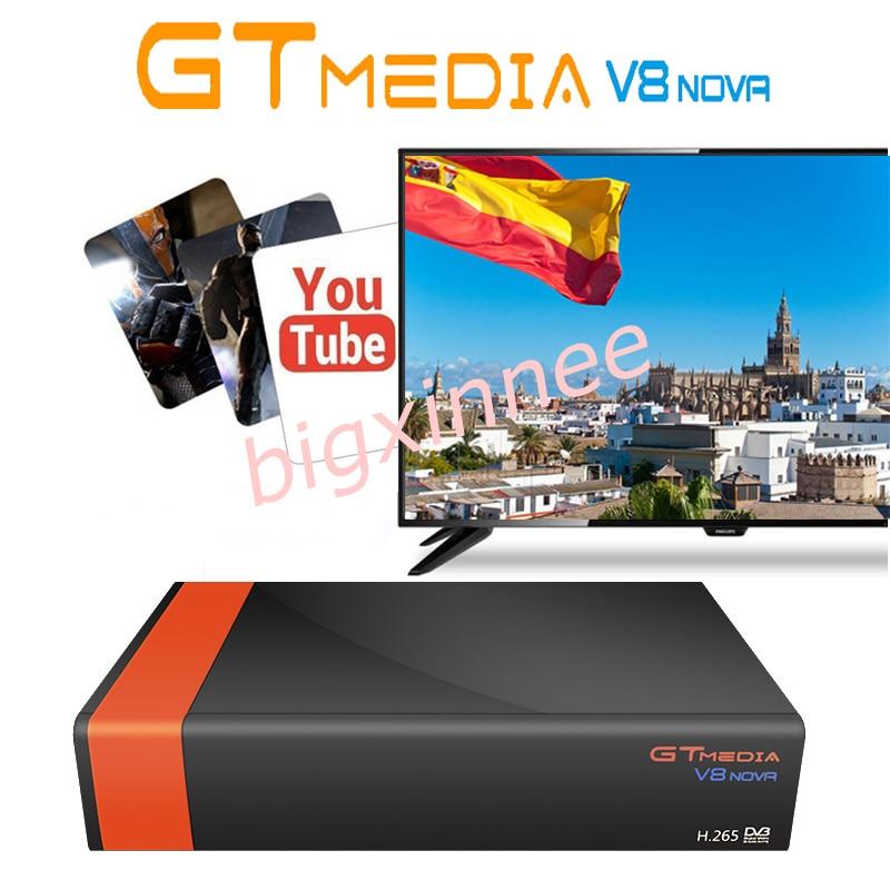 5 pcs/lot Satellite tv récepteur gtmedia v8 nova intégré WIFI freesat v8 Récepteur 1 Année Europe cline puissance par freesat v8 super