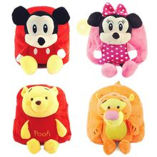 Disney plush backpack Mickey Plush Toy Dolls for Men Women Backpacks mickey mouse bag toys for children Dolls & Stuffed Toys(China)