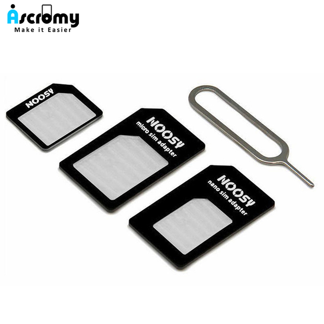 US $0 01 |Micro Nano SIM Card Adapter Connector Kit For iPhone 6 7 plus 5S  Huawei P8 lite P9 Xiaomi Redmi Note 4 Pro 3S 3 Mi5 sims holder-in SIM Card