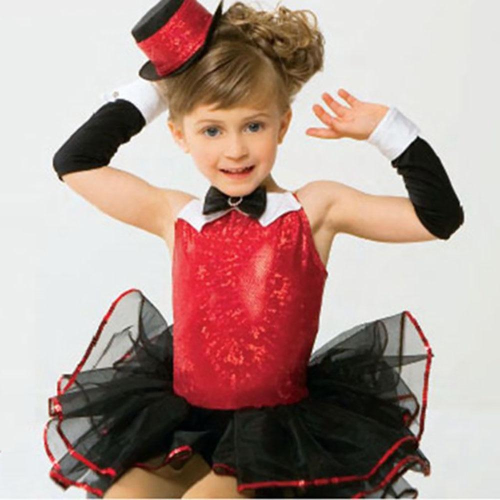 Good Quality Ballet Dance Dresses For Girl Black Red Jazz Tutu Bubble Suit Children Professional Ballet