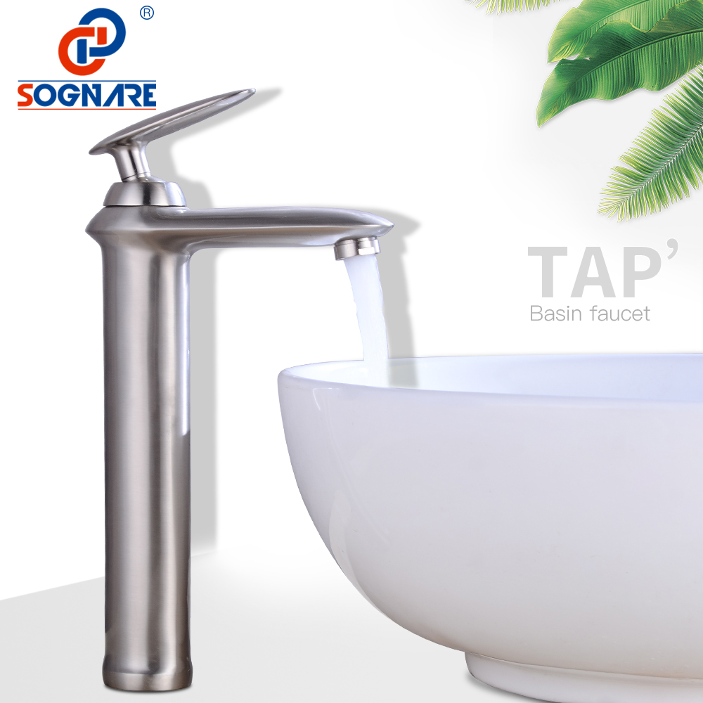SOGNARE Basin Faucet for Bathroom Sink Faucet Tall Faucet Waterfall Sink Mixer Tap Hot Cold Water Single Hole Water Tap Bathroom xogolo fashion waterfall faucet for bathroom chrome single hole basin faucet mixer new arrival cold and hot sink tap