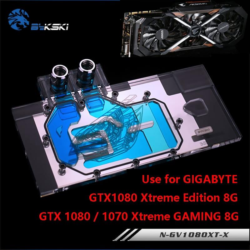 GIGABYTE GTX1080 XTreme GAMING / N-GV1080XT-X / GTX1070 XTreme / GTX1070Ti / 풀 커버 구리 블록 RGB 용 BYKSKI 워터 블럭 사용