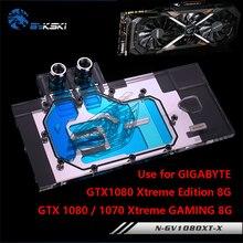 BYKSKI Water Block use for GIGABYTE GTX1080 Xtreme GAMING N GV1080XT X GTX1070 Xtreme GTX1070Ti Full