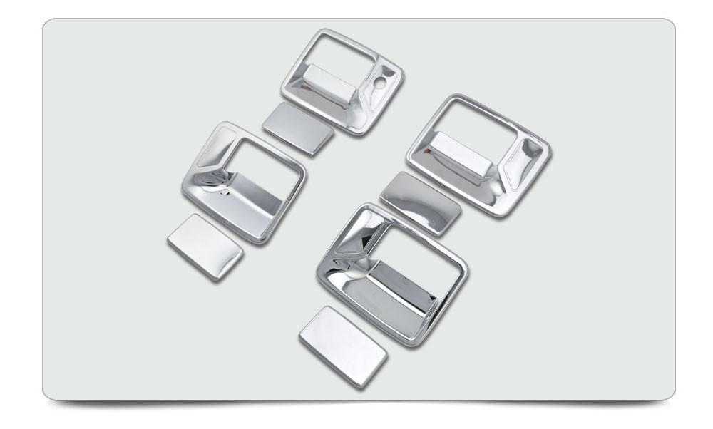 2000-2006 F250 Accessories 4D Door Handle Cover No PSKH For Ford F-250 South American Version Only ABS Chromium FREE Shipping c