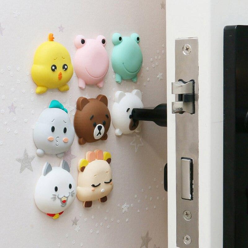Door Crash Pad Popular Door Stopper 1PC Animals Door Fenders Thickening Wall Fenders Cartoon Protective Pad Silicone Mute