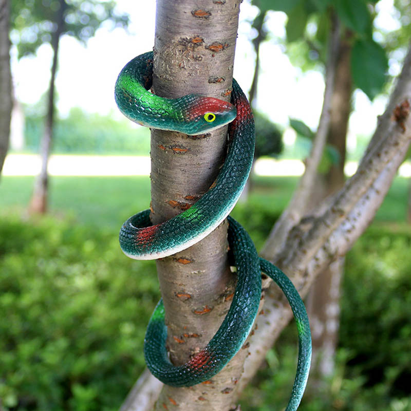 3 Pcs/Set 67cm Halloween Realistic Snake Toy Soft Rubber Garden Props Novelty Playing Jokes Toys Joke Prank Gift YH-17