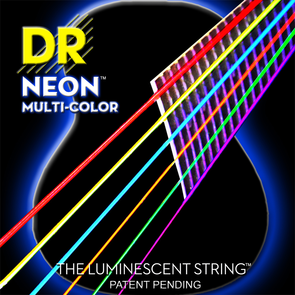 dr k3 hi def neon multicolor luminescent electric guitar strings light 09 42 or medium 10 46 in. Black Bedroom Furniture Sets. Home Design Ideas