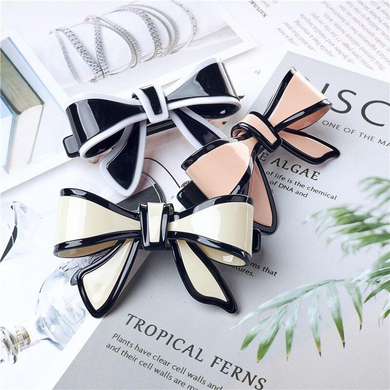New Design Elegant Women Hair Jewelry Acetate Hairpins Vintage Hair Barrettes Clip Boutique Bow Hair Clip Hair Accessories Tiara