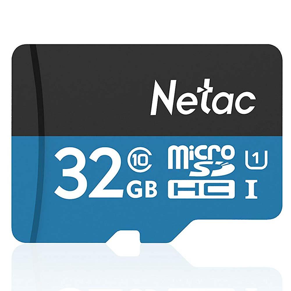 Tarjeta de memoria Netac 32GB tarjeta microsdhc Clase 10 velocidad de lectura hasta 80 MB/S P500 TF UHS-1 grabador de datos de vehículo tarjeta SD 32 gb