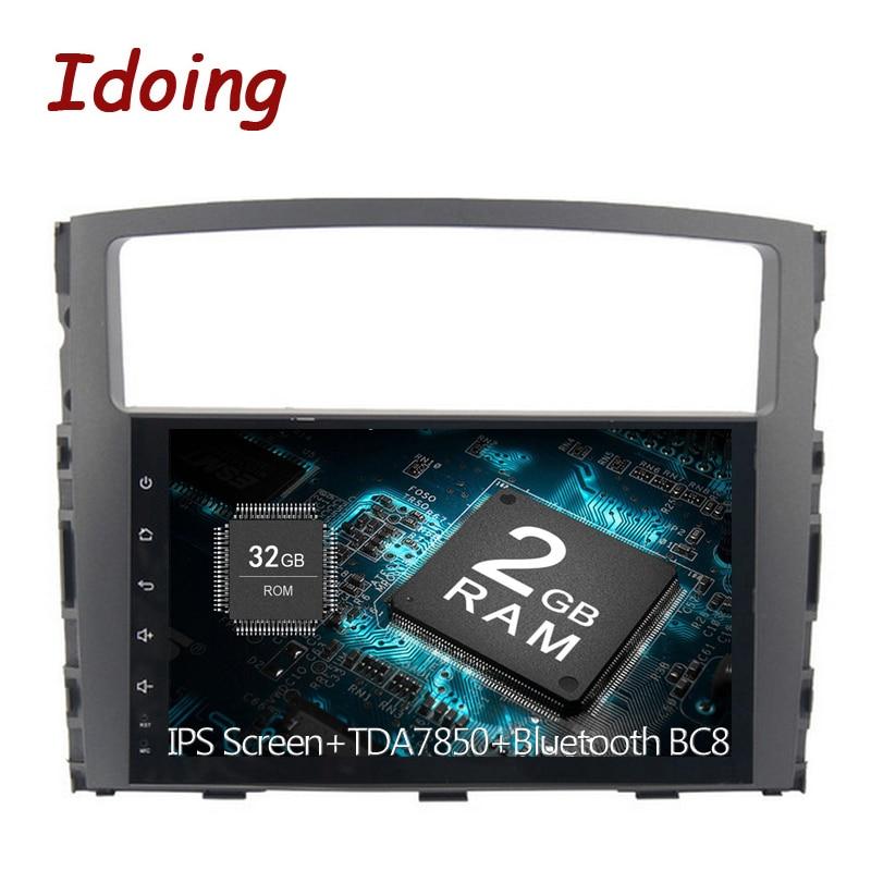 Idoing android 6.0/7.1 car radio 2g+32g fast boot TPMS GPS+GLONASS Fast Boot Fit MITSUBISHI PAJERO V97 V93 2006 2012 NO Disc