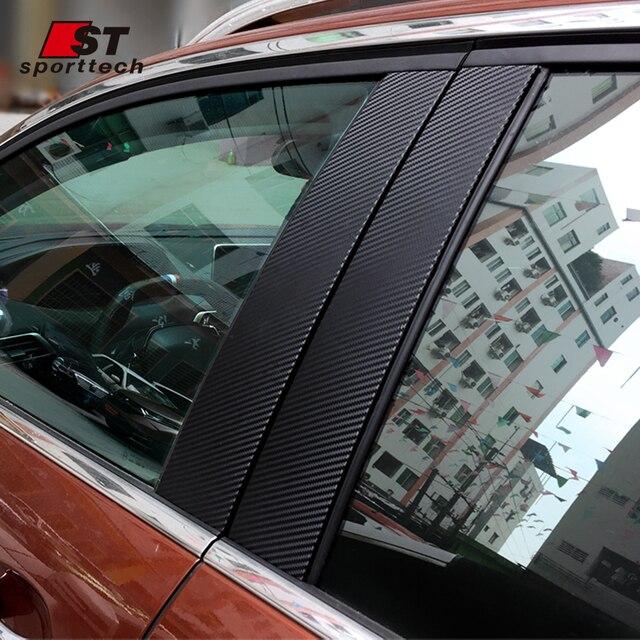 6 95 Style De Voiture Adapte Pour 2017 Peugeot 3008 Gt Ligne Accessoires Noir B Pilier Poteaux Carbone Autocollants Fenetre Garniture