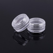 1000PCS X 3g/3 ml Small Box 3CM Round Clear Container Jar Screw Cap Plastic Empty Storage Boxes Beads Organizer Box CBT07-clear mini clear plastic small box jewelry earplugs storage box case container bead makeup clear organizer gift