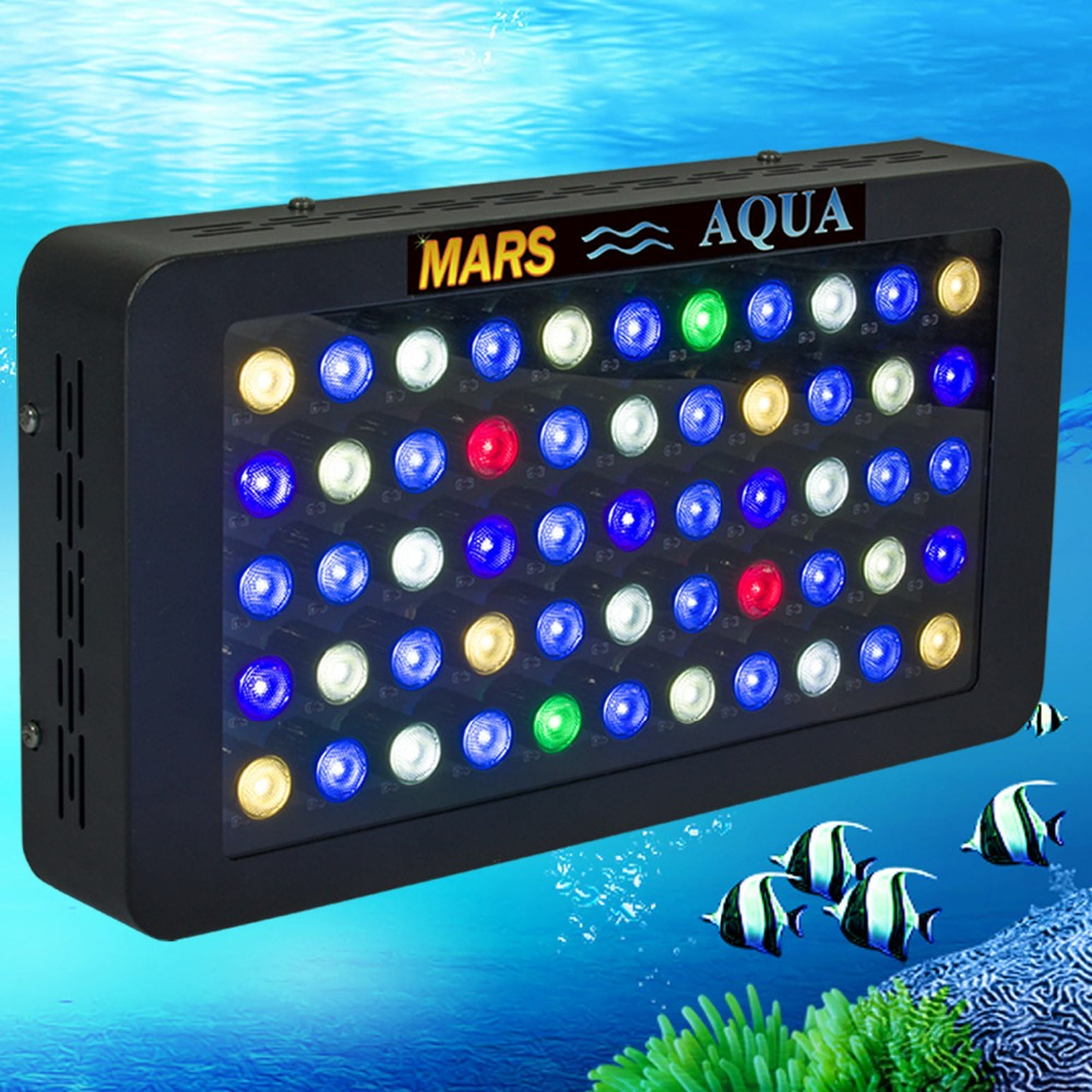 Mars Aqua Dimmable 165 w HA CONDOTTO LA Luce Dell'acquario di Barriera Acquario Marino ha condotto l'illuminazione