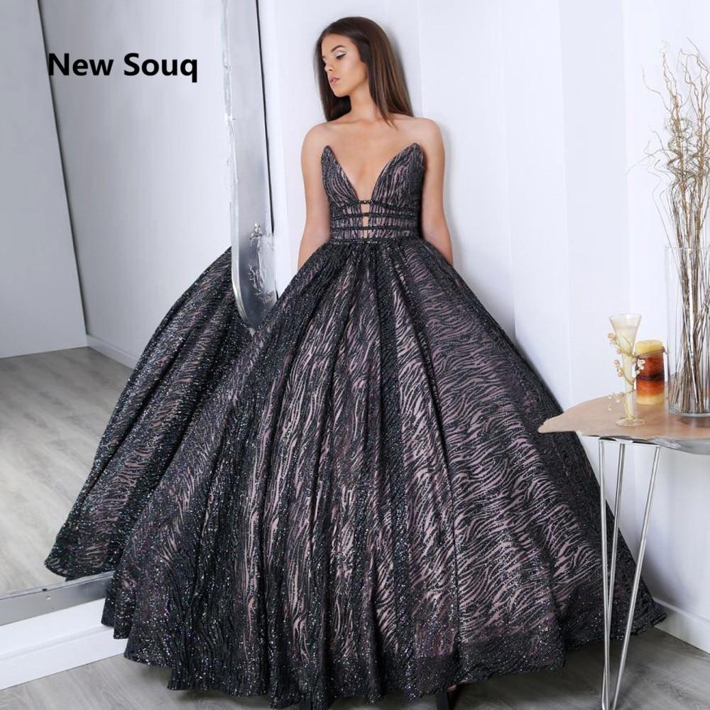 Sexy V-neck Backless Sequined Ball Gown Quinceanera Dresses vestidos de 15 anos robe de bal Floor Length Puffy Sweet 16 Dress