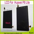 China fornecedor para huawei p8 lite screen display lcd com tela de toque digitador assembléia preto ou branco + ferramentas frete grátis