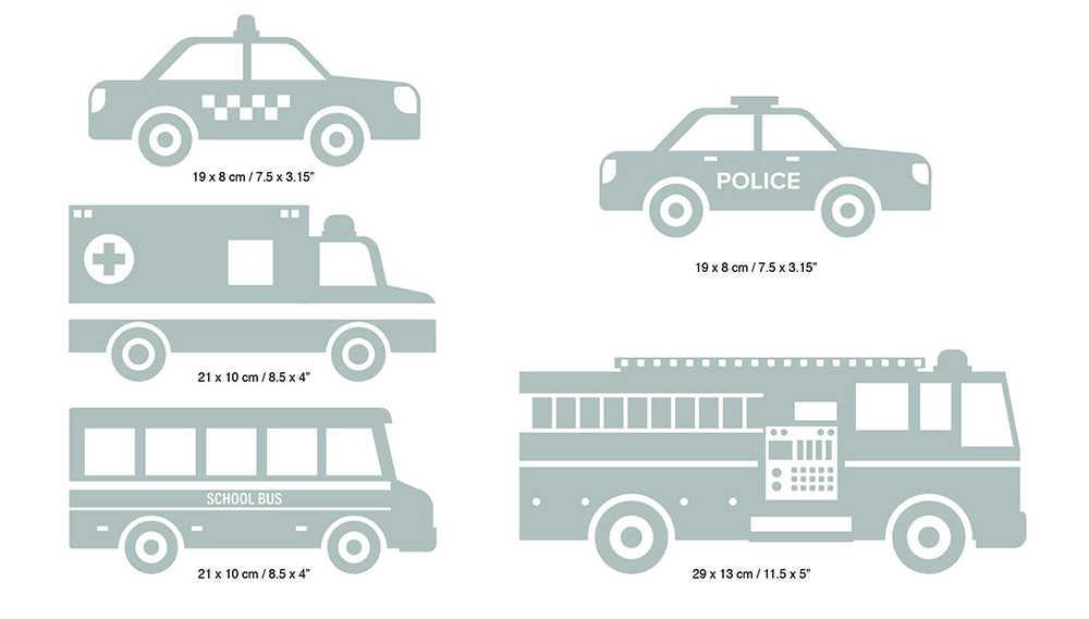 Аварийные транспортные средства наклейки на стены стикеры автомобили скорая помощь школьный автобус такси пожарная машина наклейка на стену маленький мальчик Детская комната Декор D889