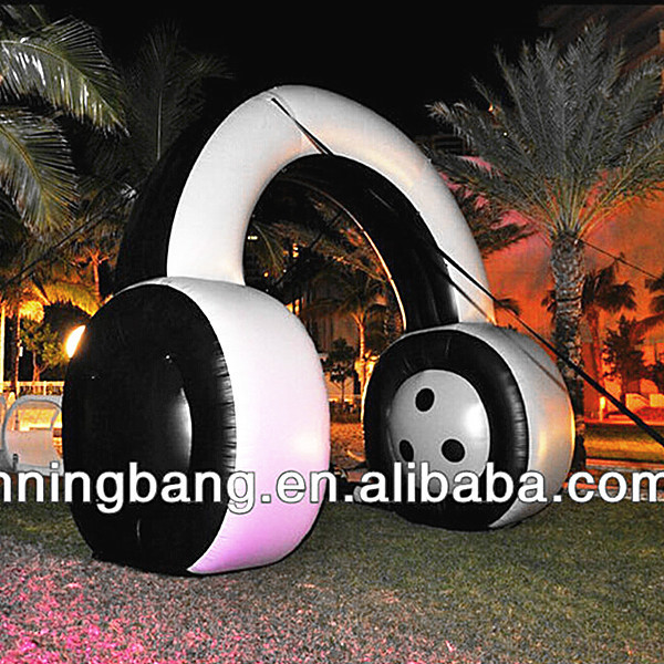 Free shipment height 5m width 5m inflatable headphone for advertisingpromotion