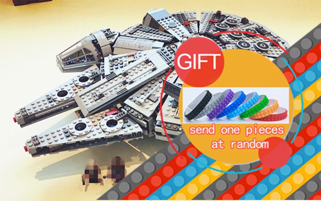 05007 1381pcs Star warfare Millennium Falcon Figure Toys building blocks marvel mini Kids 10467 lepin laser wood cutter wood laser cutting machine laser cutting rocking horse