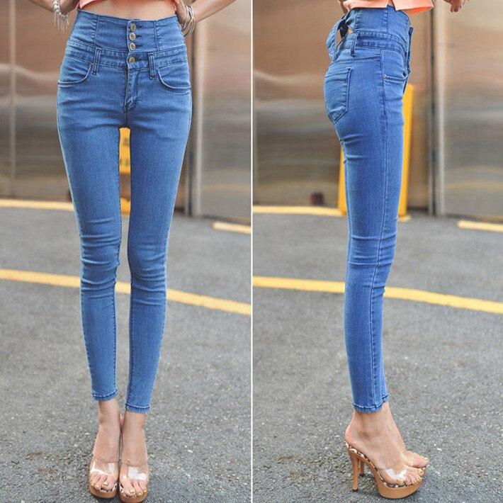 Aliexpress.com : Buy Unique Women High Waist Jeans Slim Skinny ...