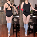 New Arrival Fashion Adult Women Black Hot Pink Asymmetry Unequal Ballet Leotard Dance Gymnastics Leotard