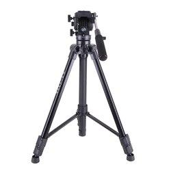 VT-1500 Professional Aluminum Video Camera Studio Photo Tripod with Fluid Damping Head  for film video shooting Max Loading 22lb