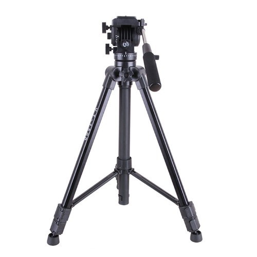 VT 1500 Professional Aluminum Video Camera Studio Photo Tripod with Fluid Damping Head for film video shooting Max Loading 22lb
