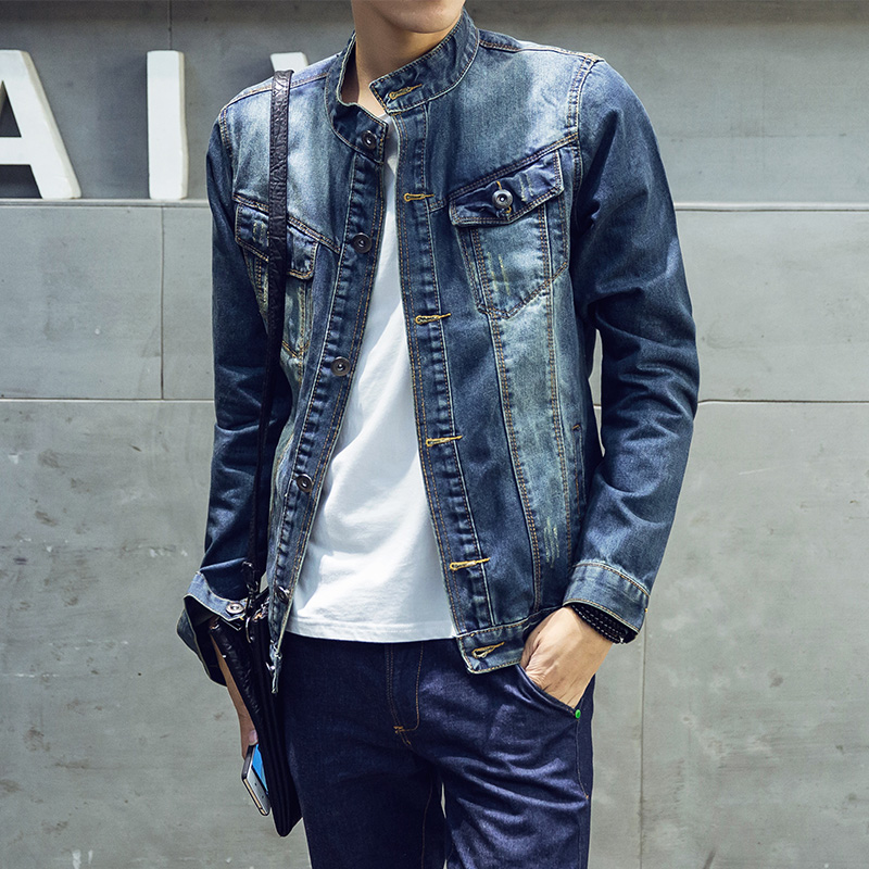 Aliexpress.com  Buy Slim Fit Denim Jacket Men High Quality Fashion Jeans Jackets Solid Pocket ...