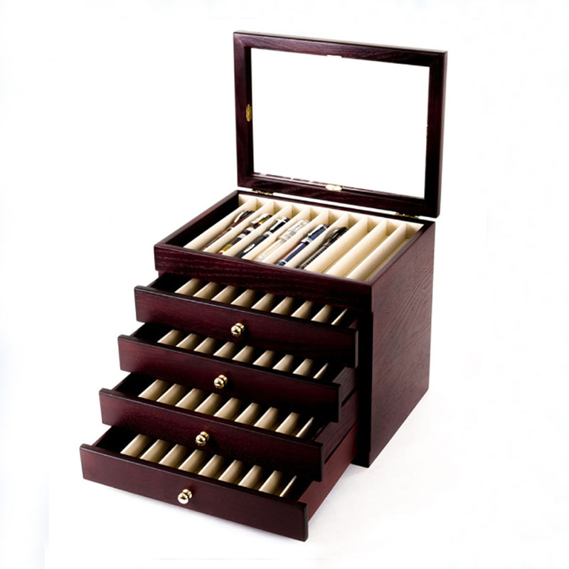 Ash Wood Pen Box 5 Layers Fountain Pen Case