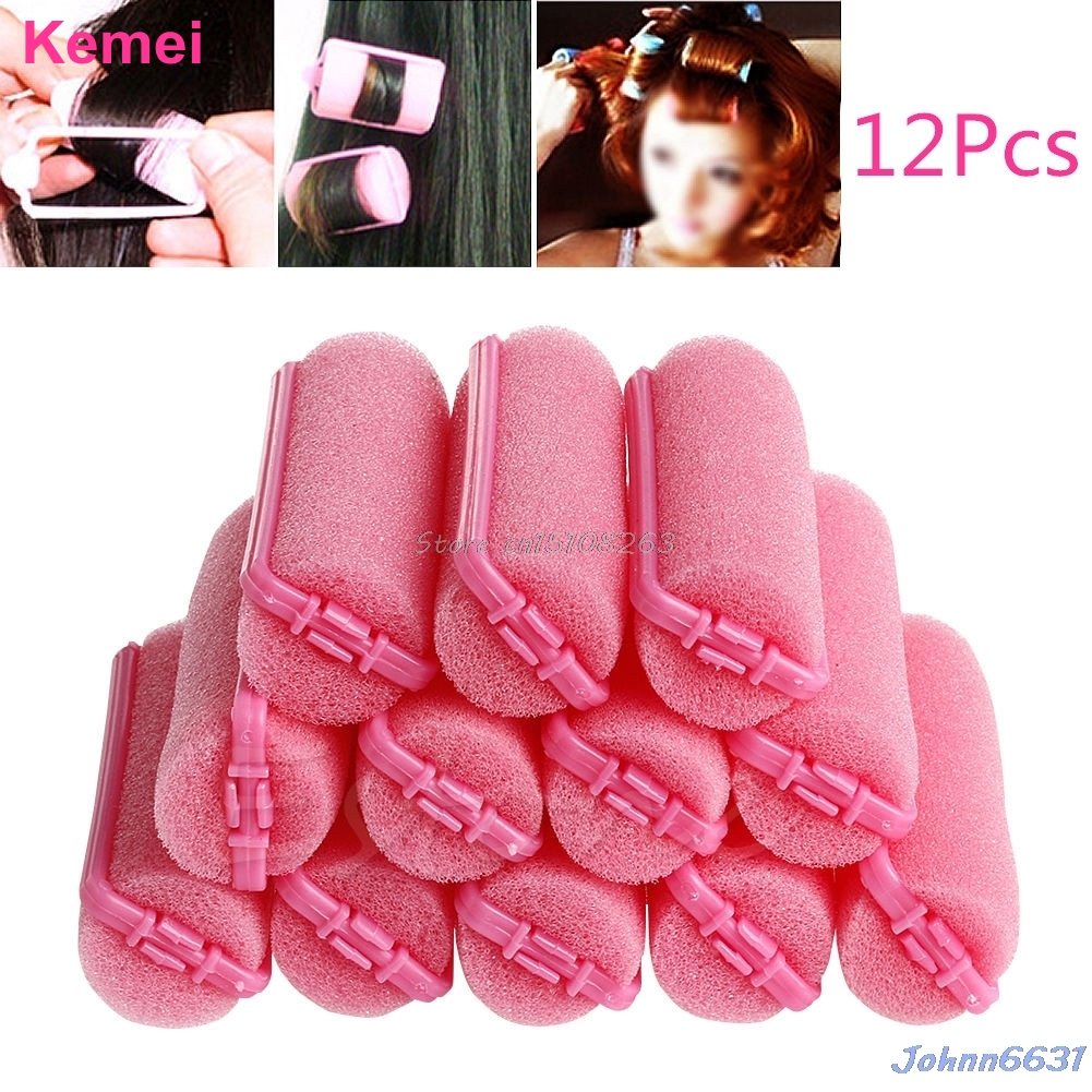 Welcome to Wing's Store 12Pcs Magic Sponge Foam Cushion Hair Styling Rollers Curlers Twist Tool HOT -Y207 Drop Shipping