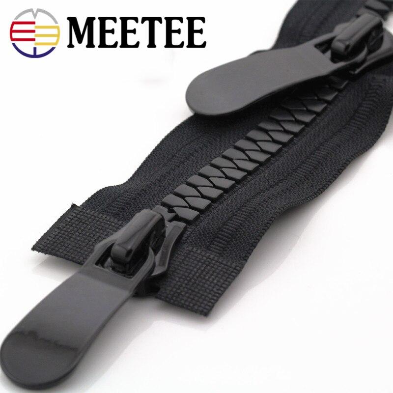 Meetee 8 15 Double open Resin Zipper 20 70 80 90 100cm Long Zipper Down Jacket Coat Double Sliders for Sewing Garment Accessory in Zippers from Home Garden