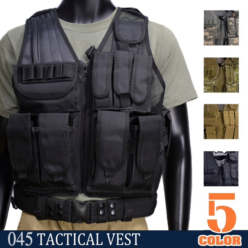CQC Airsoft Tactical Molle Vest Camouflage SWAT Police Military Combat Paintball Hunting Assault Vest hot selling jiepolly military vest four in one tactical vest top quality nylon airsoft paintball combat assault protective vest