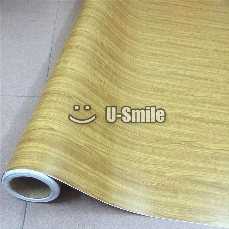 Feuille de vinyle en bois Texture GRAIN de bois feuille de vinyle autocollant feuille de décalque pour mur de meubles d'intérieur automatique
