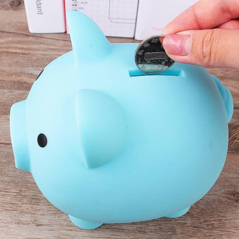 Caixa de armazenamento de poupança de dinheiro caso seguro porco fingir jogar brinquedo caixas de dinheiro brinquedos bancários azul rosa amarelo cor vermelha