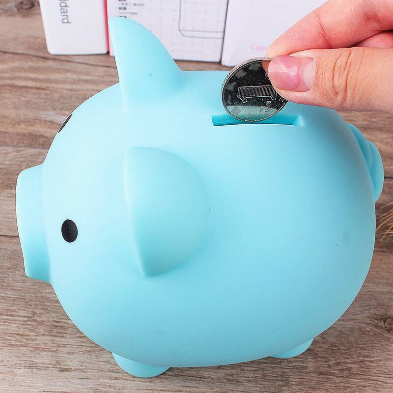 Money Saving Storage Box Safe Case Pig Pretend Play Toy Money Boxes Banking Toys Blue Pink Yellow Red Color