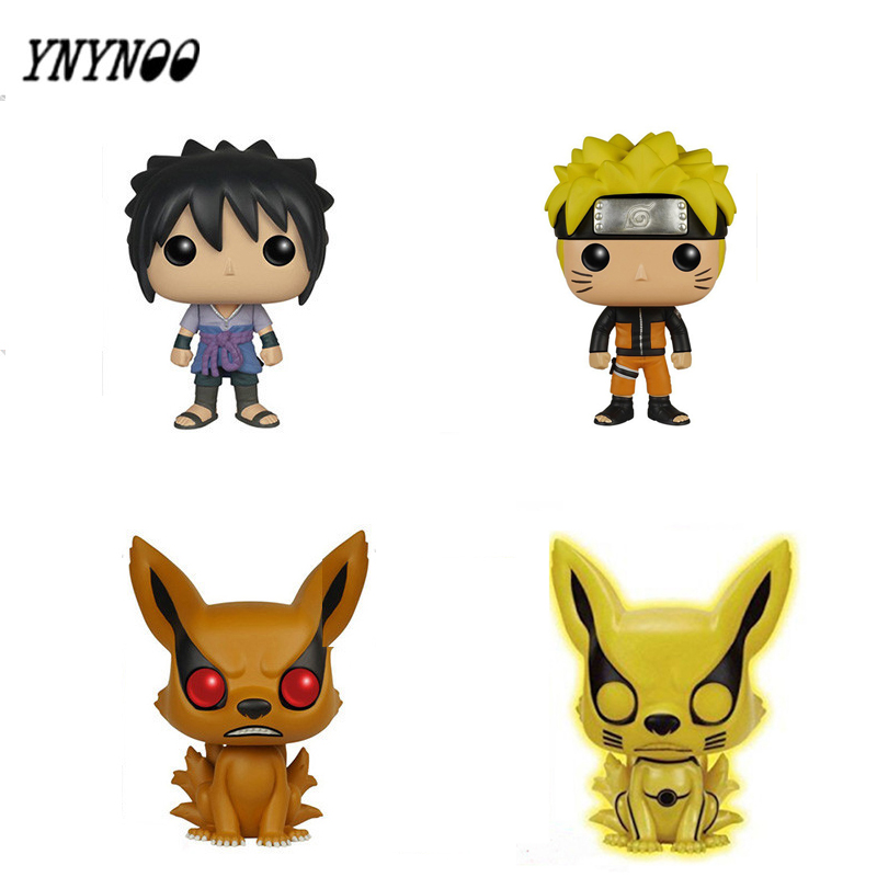 YNYNOO Naruto Sasuke Kurama Pvc Action & Toys Figure 10CM Japanese Anime Cute Collection Model Juguetes Kid Toys for Children