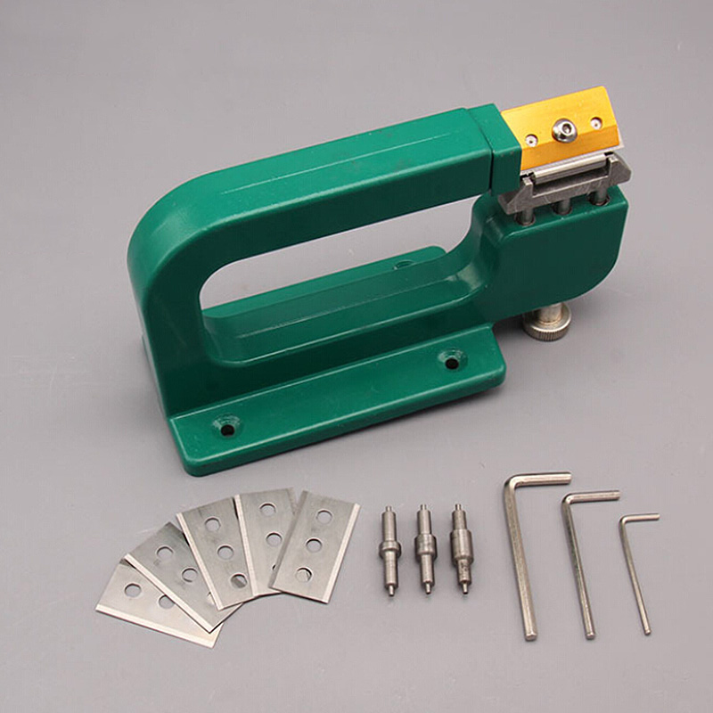 1 set aluminum DIY Leather Craft Splitter Skiver Paring Peeling Machine Edge Cut Skiving Tools Hot Sale