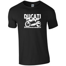 2018 New Summer Style Fashion T-shirt Italy Classic Motorcycle Desmosedici Mens T-Shirt